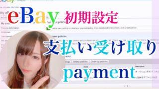 ebay支払い受け取り 設定方法